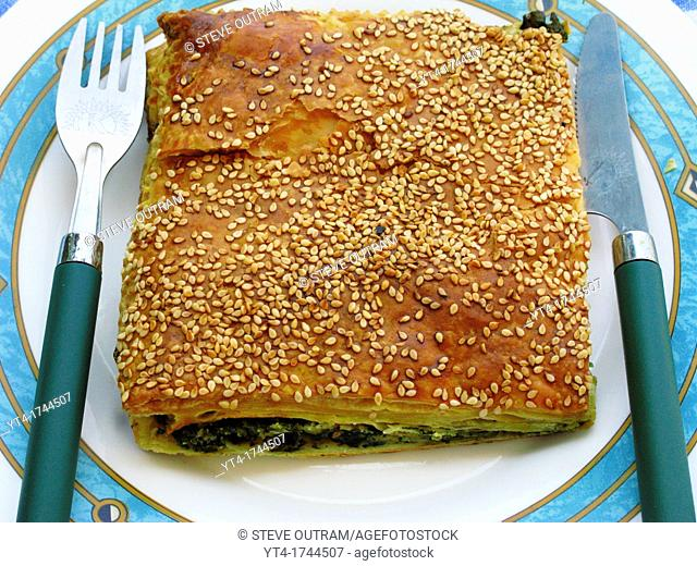 Greek Cuisine  Spanakopita  Spinach and Cheese Pie