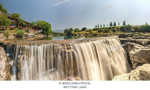 Panoramic View of Niagara Falls on the Cievna river in Montenegro
