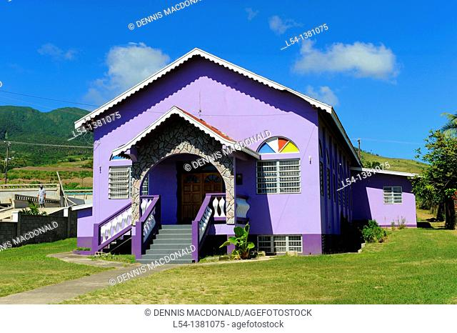 Local Purple Building House Basseterre St  Kitts Caribbean Cruise NCL