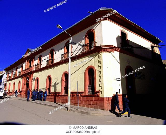 peru puno police force station building military people
