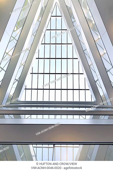 Greenwich Creekside, London, United Kingdom. Architect: Squire + Partners, 2012. Abstract view of triangular rooflight