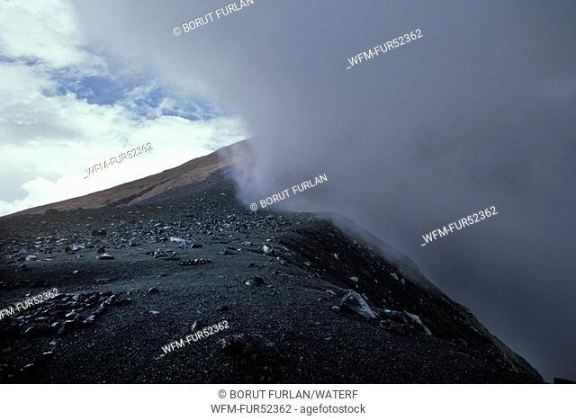 Volcano Mount Mahawu, Sulawesi, Indonesia