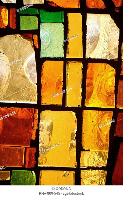 Stained glass, Yonne, Burgundy, France, Europe