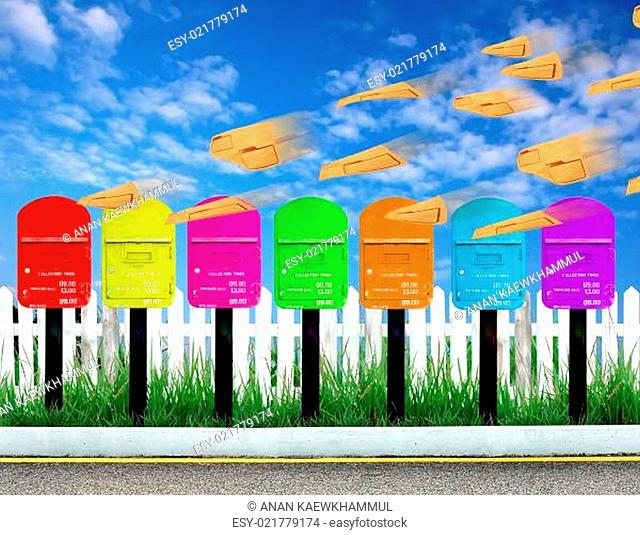 7 color postbox