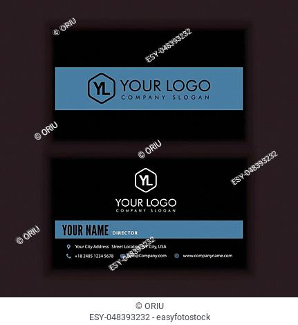 Modern Creative and Clean Business Card Template with dark color