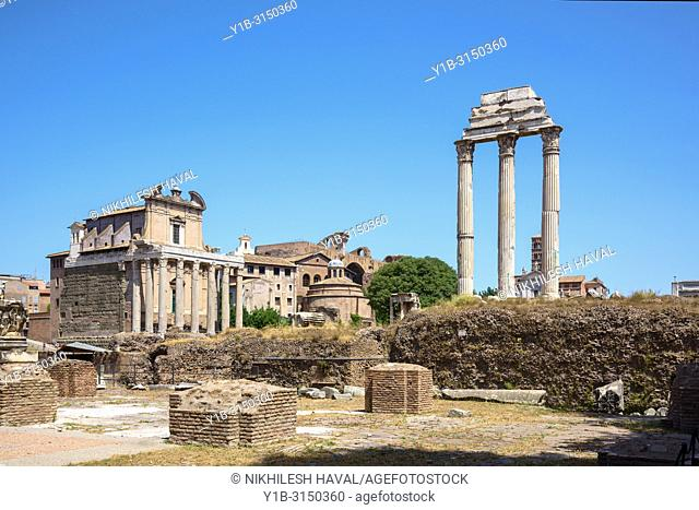 Temple of Castor and Pollux & Temple of Antoninus and Faustina, Rome, Italy