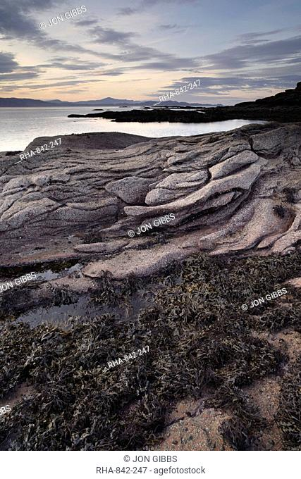 The beautiful coastline of the Applecross Peninsula at Ardban, Ross Shire, Scotland, United Kingdom, Europe