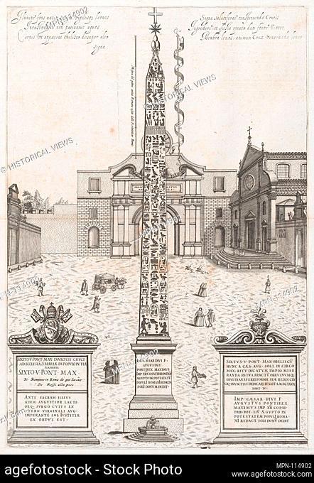 Speculum Romanae Magnificentiae: The Egyptian Obelisk of Augustus. Series/Portfolio: Speculum Romanae Magnificentiae; Artist: Anonymous; Publisher: Nicolaus van...