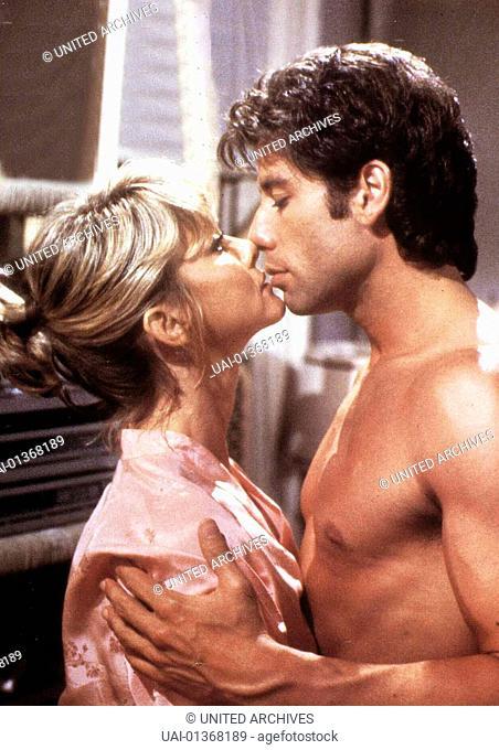 Zack (John Travolta) und Debbie (Olivia Newton-John) *** Local Caption *** 1983, Two Of A Kind, Zwei Vom Gleichen Schlag