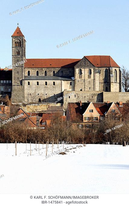 St. Servatii abbey church, castle hill, Quedlinburg, Harz, Saxony-Anhalt, Germany, Europe
