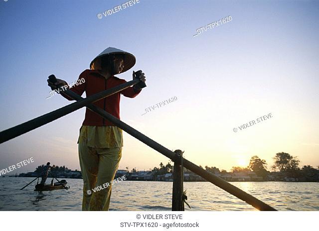 Asia, Boat, Cantho, Holiday, Landmark, Mekong delta, Mekong river, Model, Released, Sunrise, Tourism, Travel, Vacation, Vietnam