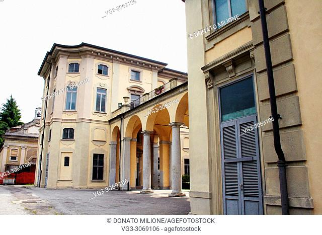 Limbiate, Lombardy, Italy. Villa Pusterla Crivelli Arconati is an eighteenth century villa situated in Mombello, (fraction of Limbiate in the Province of Monza...