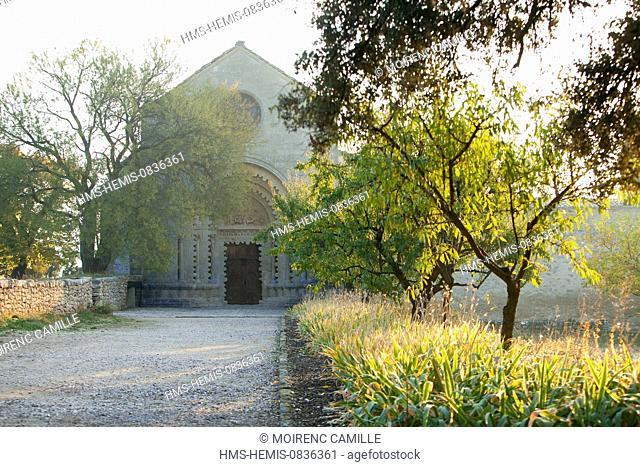 France, Alpes de Haute Provence, Durance Valley, Ganagobie, Abbey Notre Dame de Ganagobie