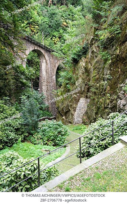 Funicular Funicolare Locarno Madonna del Sasso, Orselina, Locarno, Ticino, Switzerland