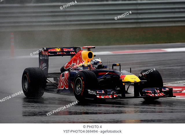 Friday Practice 1, Sebastian Vettel GER, Red Bull Racing, RB7, F1, Korean Grand Prix, Yeongam, Korean