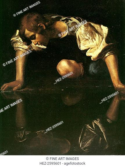 Narcissus, 1598-1599. Found in the collection of the Palazzo Barberini, Rome