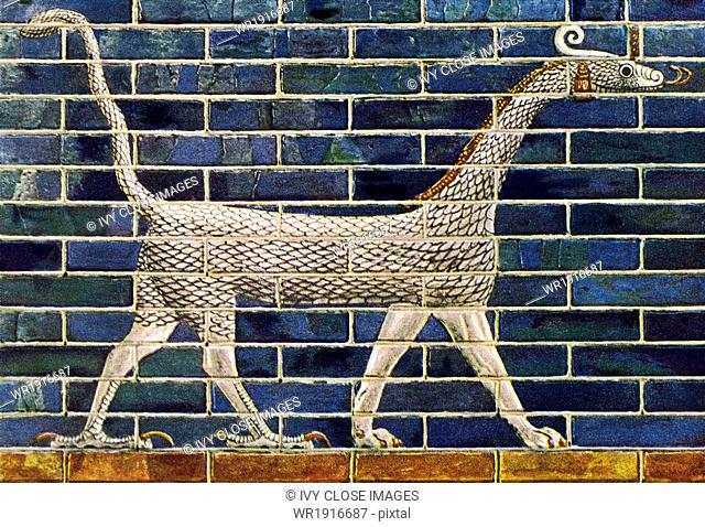 The ancient city of babylon was renowned for its massive entrance gate, the Ishtar Gate, built during the reign of Nebuchadrezzar II (around 600 B.C