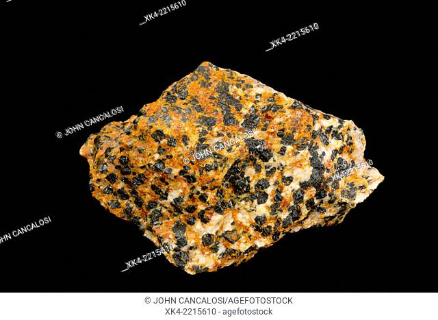 Rock containing Willemite, Franklinite, Zincite, Calcite from New Jersey, USA