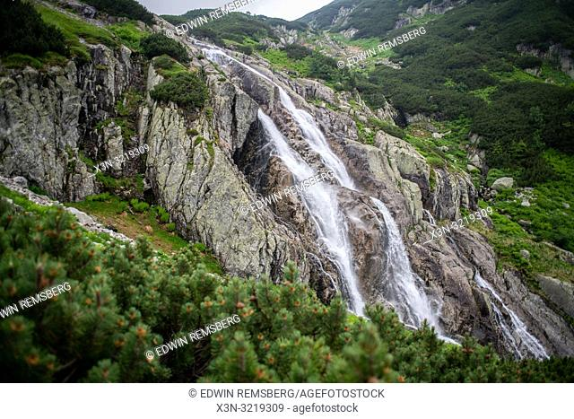 A picture of Wielka Siklawa the highest waterfall in Poland in the Tatra National Park,Lesser Poland Voivodeship, Poland