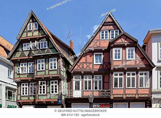Half-timbered houses, historic centre, Celle, Lower Saxony, Germany