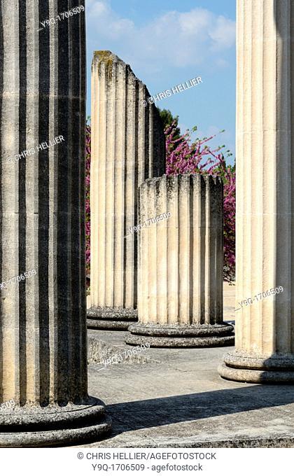 Columns of Roman Temple Glanum Saint-Rémy-de-Provence Alpilles Provence France