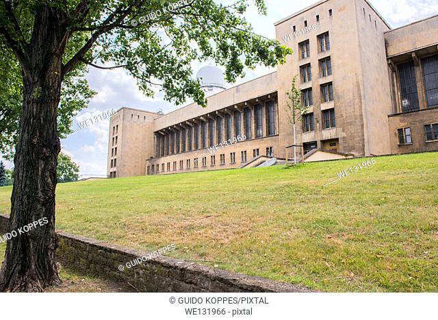 West-Berlin, Berlin, Germany. East wing of the Nazi regime build Airport Tempelhof