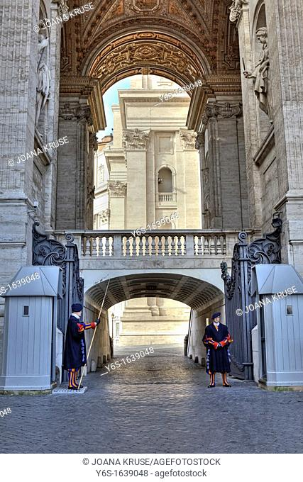 The Pontifical Swiss Guard is the only remaining papal army corps in arms  It ensures the Apostolic Palace, the entrances to Vatican City and is responsible for...