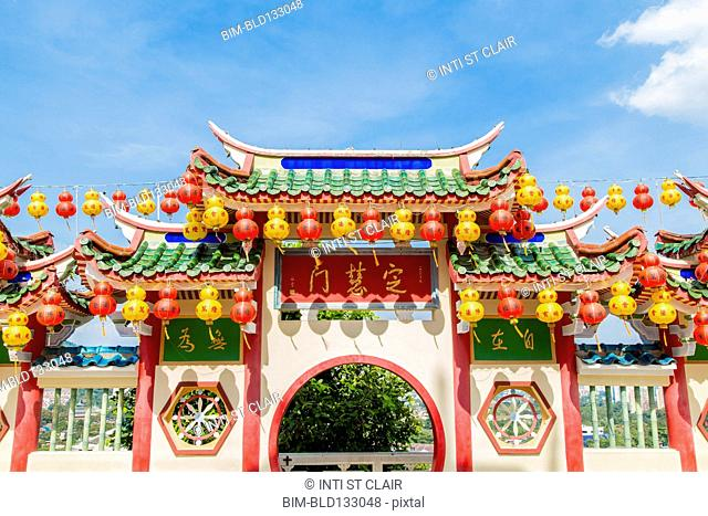 Chinese lanterns at Kek Lok Si temple, George Town, Penang, Malaysia