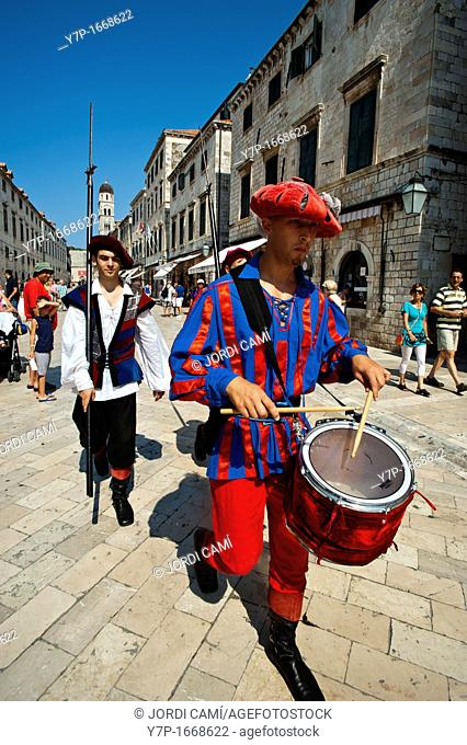 Changing of the guard ceremony, Old Town, Dubrovnik  Croatia
