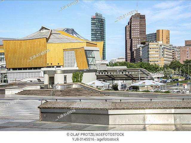 Berlin Philharmonic concert hall, Potsdamer Platz, Germany