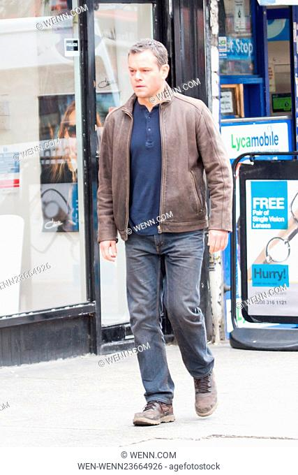 Matt Damon is spotted filming scenes for 'Jason Bourne' on the Streets of Woolwich Featuring: Matt Damon Where: London, United Kingdom When: 21 Mar 2016 Credit:...