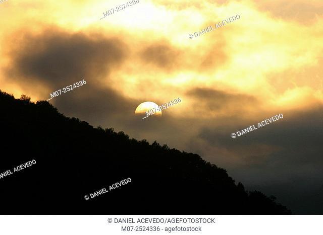 Sunset at Somiedo National Park, Asturias, Spain, Europe