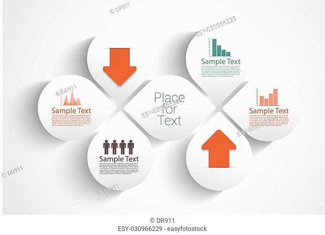 Modern bright style vector illustration. Can be used for work-flow layout, diagram, number options, web design, infographics, business brochure