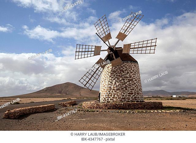 Windmill, Molino de Tefía, Tefia, Fuerteventura, Canary Islands, Spain