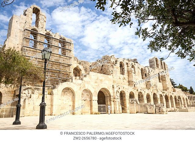The Odeon of Herodes Atticus. Athens, Central Athens. Greece