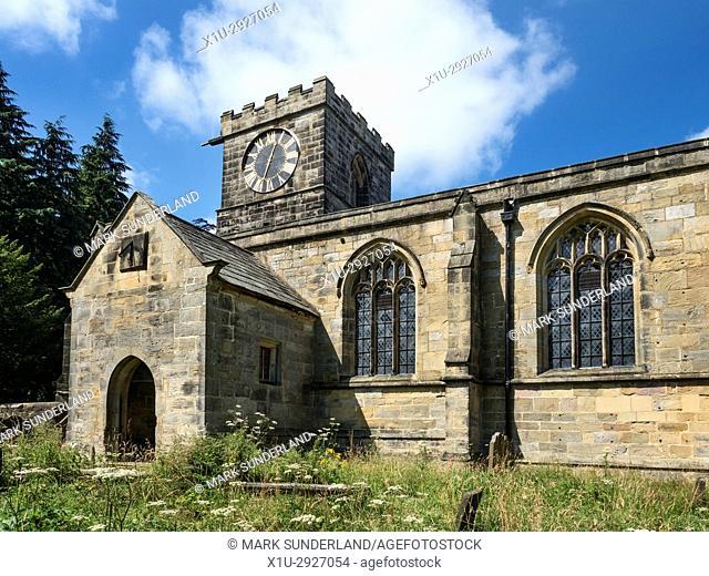 All Saints Church at Harewood Park Harewood near Leeds West Yorkshire England