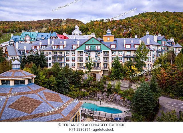 The Mont-Tremblant ski village site, Quebec, Canada