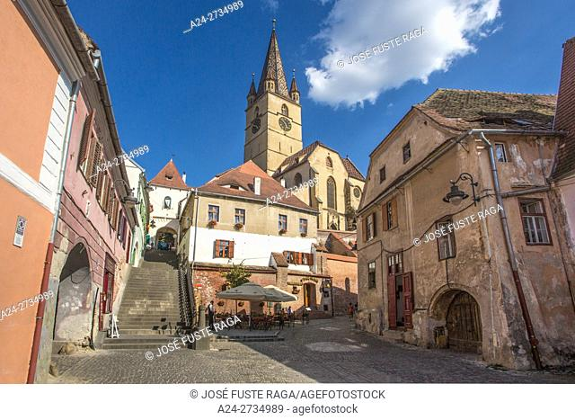 Romania, Sibiu City, Evangelical Cathedral Tower