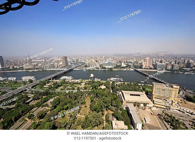 Elevated view from Cairo Tower. City of Cairo. Egypt