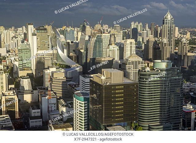 Bangkok Skyline, Downtown, Thailand