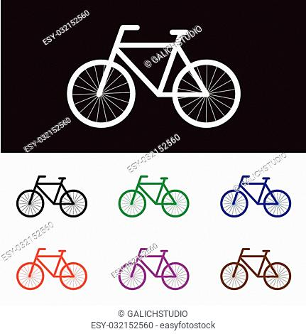 Vector illustration of Simple bicycle icons for used