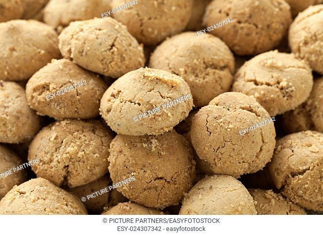 Moroccan festive homemade ghoriba cookies full frame