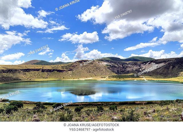 Crater Lake, Narligol, Guezelyurt, Aksaray, Anatolia, Turkey