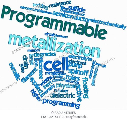 Abstract word cloud for Programmable metallization cell with related tags and terms