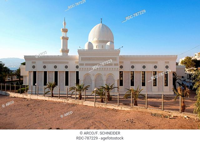 Al-Sharif Al-Hussein bin Ali mosque, Aqaba, Jordan, Asia Minor / Akaba