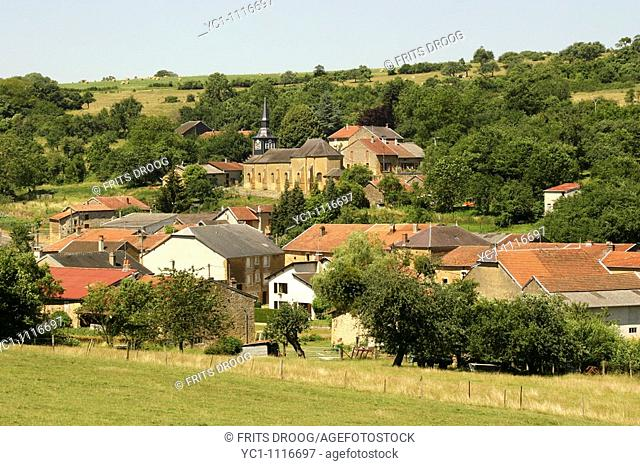 Biévres, view of a little village in French Ardennes
