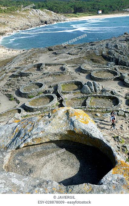 Castro de Baroña, Porto Do Son, La Coruna, Galicia, Spain