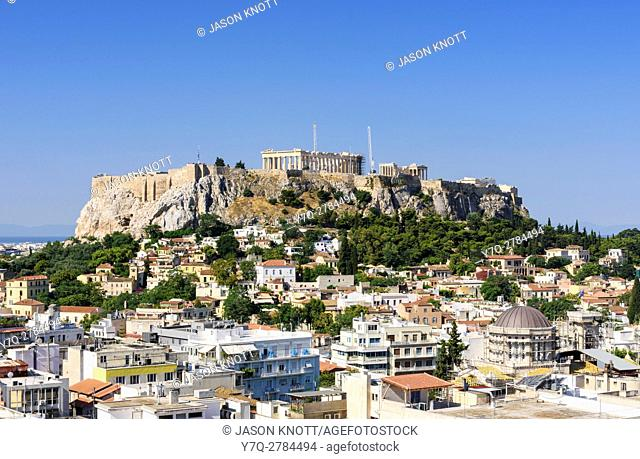 The Acropolis and city of Athens, Athens, Greece