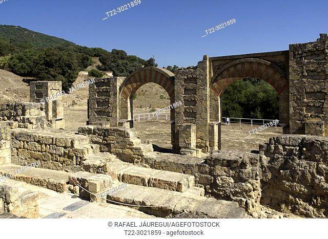 Cordoba (Spain). The Great Porch in the palatine city of Medina Azahara