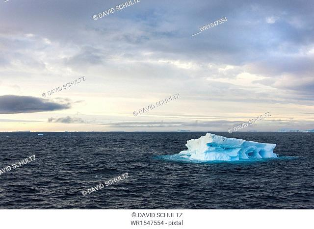 Icebergs on the waters of the Weddell Sea in the Southern Ocean